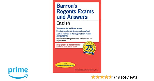 Amazon Barrons Regents Exams And Answers English