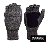 Metog Suede Thinsulate Thermal Insulation Mittens Brown tweed S