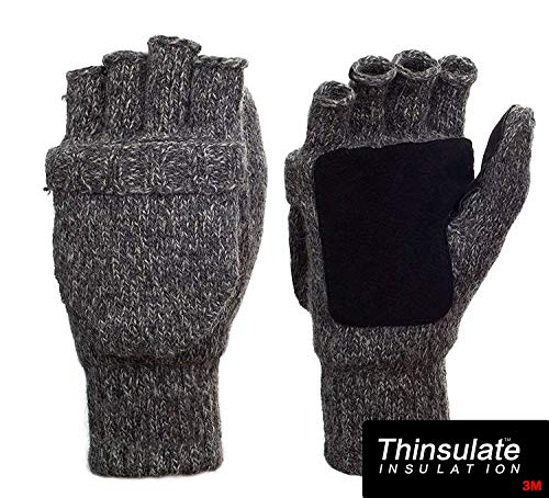 Metog Suede Thinsulate Thermal Insulation Mittens Brown tweed S by Metog