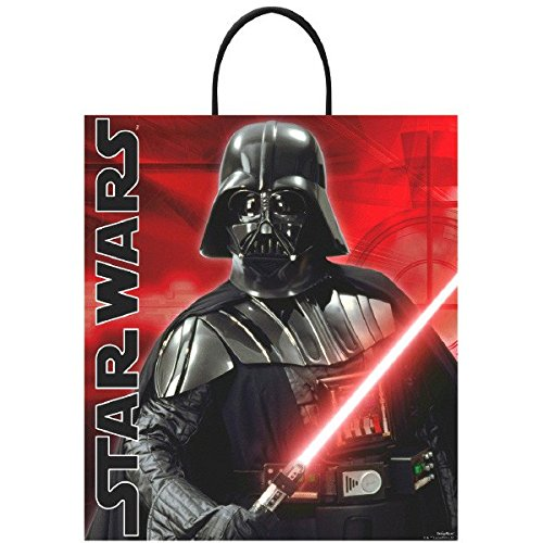 [Amscan Star Wars Birthday Darth Vader Loot Bag, 16