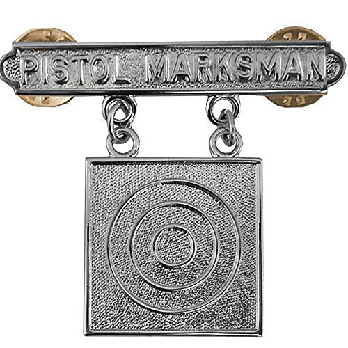 U.S. Marine Corps Pistol Marksman Qualification Badge Metal Pin Large 1-1/2