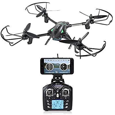 Contixo F6 RC Quadcopter Racing Drone 2.4Ghz 6-Axis Gyro with 720P Rotating HD Camera, FPV Live Feed, Headless, 18 Minutes Flight Time, 360 Flips, Mobile App, Hover, VR Ready by Contixo