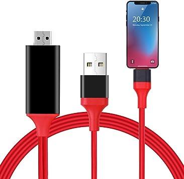 Cable HDMI Compatible con teléfono Pad a HDMI Cable TTV Box iOS ...