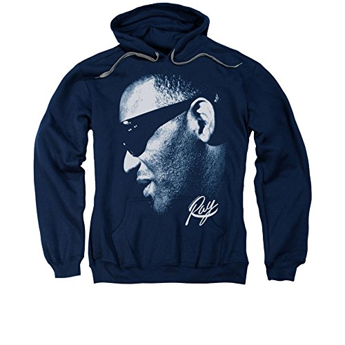 Navy Ray - Ray Charles Adult Hoodie Fleece Sweatshirt 3XL