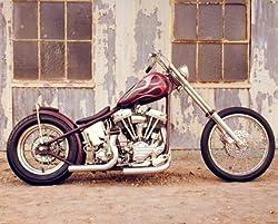 Chopper Buck Lovell Vintage Motorcycle Biker Art Print Poster (16x20)