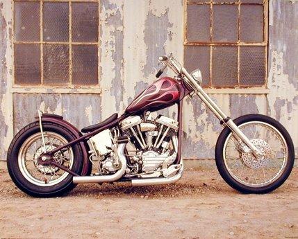 Vintage Motorcycle Wall Decor Chopper Buck Lovell Biker Art Print Poster (16x20)