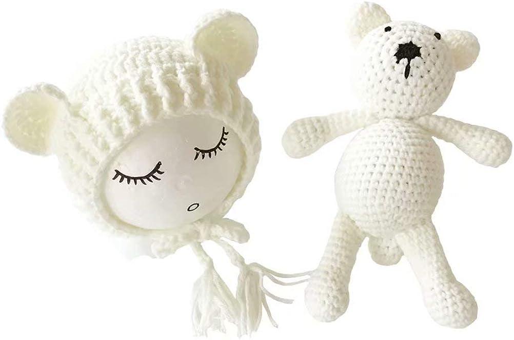 Frecoccialo - Disfraz de fotografía para recién Nacidos (Gorro y muñeca, para sesiones de Foto, 0-2 m)