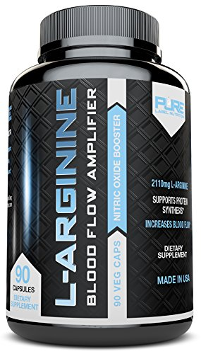 L-Arginine - No2 Nitric Oxide Booster, Build Muscle Increase Strength and Boost Sex Drive - Best and Purest L-Arginine + Top Rated - Most Effective Dose for Men and Women - MADE IN USA by Pure Label Nutrition …