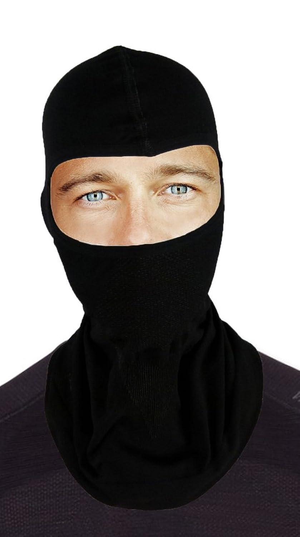 gatta active Skimaske / Sturmhaube / Sturmmaske aus Merinowolle - Thermoactive - unisex für Damen und Herren - Kopfschutz / Gesichtsmaske / Balaclava - schwarz