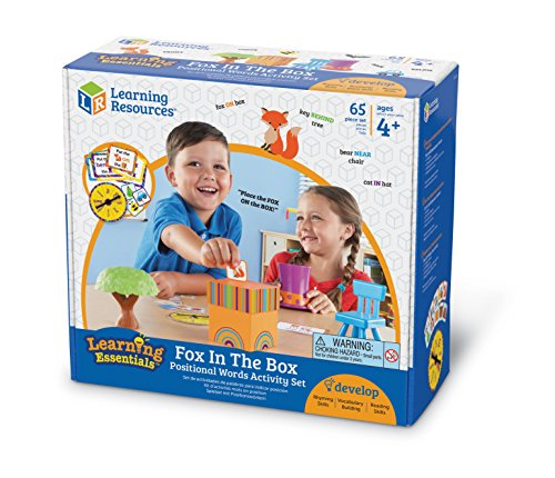 51xfoBmndaL - Learning Resources Fox In The Box Position Word Activity Set, Phonics Game, Preschool, 65 Piece Set, Ages 3+