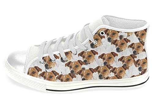 Jack Russell Shoes High Top Canvas Sneakers (9, Men)
