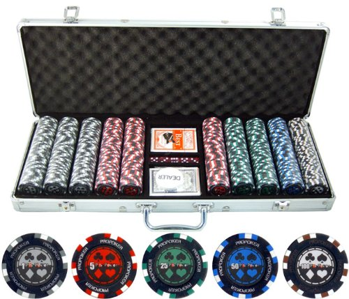 - 500 Piece Pro Poker Clay Poker Set