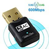 USB WiFi Adapter, High-Speed 600Mbps Dual Band (2.4G/150Mbps 5G/433Mbps) 802.11 AC USB Wireless Card Network Dongle for Desktop/PC/Laptop with Windows/Mac OS/Linux