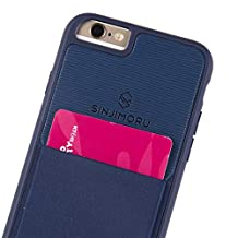 iPhone 6 / 6s Wallet Case, Sinjimoru iPhone 6 / 6s Protective Case with Card Holder / iPhone 6 / 6s Case with Card Wallet. Sinji Pouch Case for iPhone 6 / 6s, Navy.
