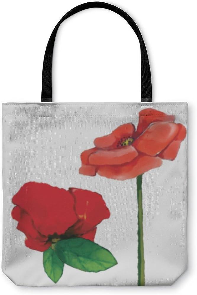 Watercolor Poppy Flower Set Gear New Shoulder Tote Hand Bag 1537648GN