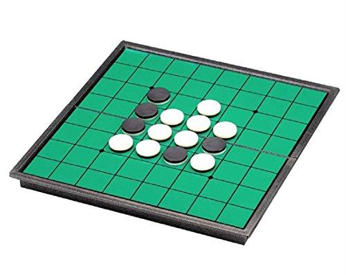 折り畳み 白黒 リバーシ ゲーム マグネット 簡単収納 軽量で携帯に便利 ポータブル 磁石 25cm×25cm (2個セット)