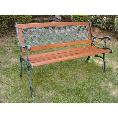 ガーデンベンチ 木製 クロスベンチ レトロ風 B00SSXVC6W