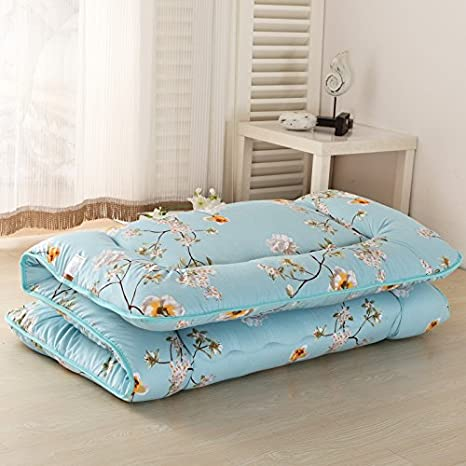 Magnolia Flower Blue Futon Tatami Mat Japanese Futon Mattress Cheap Futons for Sale Idea Present for Kids 35.4 x 78.7 90cm x 200cm