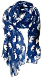 V28® Gorgeous Blue Elephant Print Long & Soft Scarf Shawl/Wrap - Large