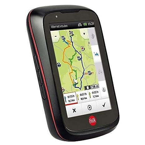 Falk GPS para Bicicleta, con Pantalla táctil de Tiger Pro, mapas de 25 Países, con Soporte para Bicicleta, Color Negro/Rojo, 240036: Amazon.es: Deportes y ...