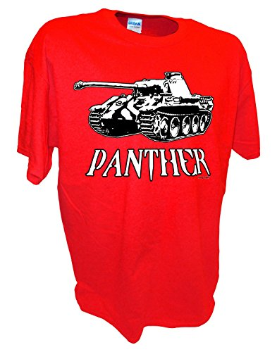 Red Top Division T-shirt - Men's Panther Panzer WW2 German SS Division D-Day RC Tank T Shirt By Achtung T Shirt LLC