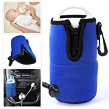 FUSHITON 12v Electrical Food Milk Water Bottle Cup Warmer Heater for Auto Car Travel Baby