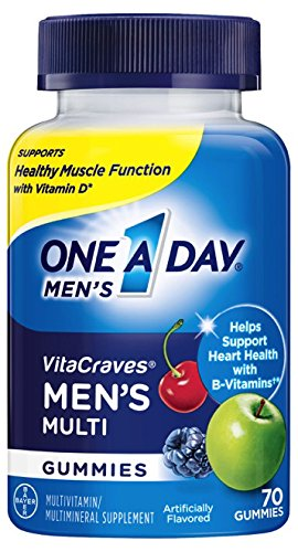 One A Day Men's VitaCraves Multivitamin Gummies, 70 (Multi Fuel Corn)