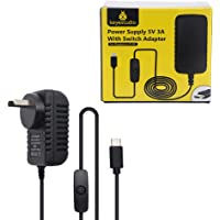 Raspberry Pi 4 Power Supply KEYESTUDIO USB-C (Type C) Charger Adapter 5V 3A with On/Off Switch for Raspberry Pi 4 Model…