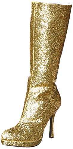 - Ellie Shoes Women's 421-Zara Boot, Gold, 7 M US