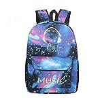 Mily Galaxy Pattern Backpack Canvas Tie Dye School Bag Rucksack
