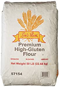 Amazon.com : Len'z Best Premium High Gluten Flour, 50