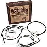 Burly B30-1001 Cable/Brake Line Kit for 16'' Height Apehanger Handlebars