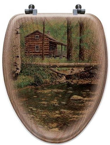 (WGI-GALLERY TS-E-AHWY Autumn Hideaway Elongated Toilet Seat)