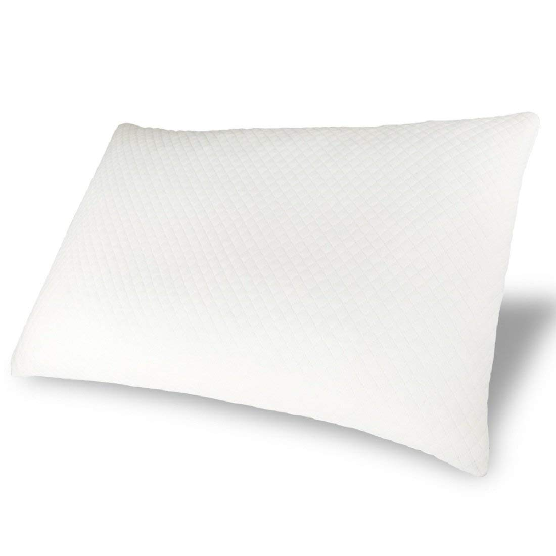 IcosyHome,Bed Pillow for Sleeping, Adjustable Natural Latex Foam Pillow,Hotel Loft Dust Mite with Zipper Removable Breathable Cooling Hypoallergenic Pillow Cover (Queen Size)