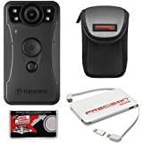 Transcend DrivePro Body 30 1080p HD Wi-Fi Video Camera Camcorder Case + Power Bank Charger + Cloth + Kit