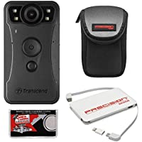 Transcend DrivePro Body 30 1080p HD Wi-Fi Video Camera Camcorder with Case + Power Bank Charger + Cloth + Kit