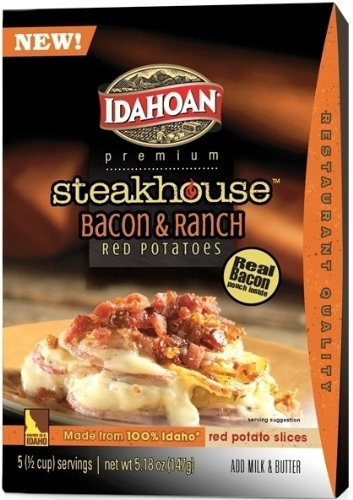 Idahoan Premium Steakhouse Red Potatoes, Bacon & Ranch, 5.18 oz. (Pack of 6) by Idahoan