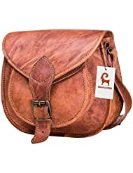 Cross Body Saddle Bag Purse for Women Purses and Handbags Women's Crossbody Satchel Leather Sling Bags on Sale...