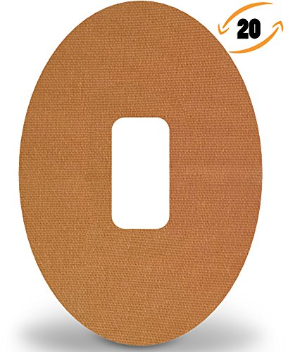 Dexcom Adhesive Patches Pre-Cut for G4 G5, Material Cotton, Color Tan, Pack  of 20