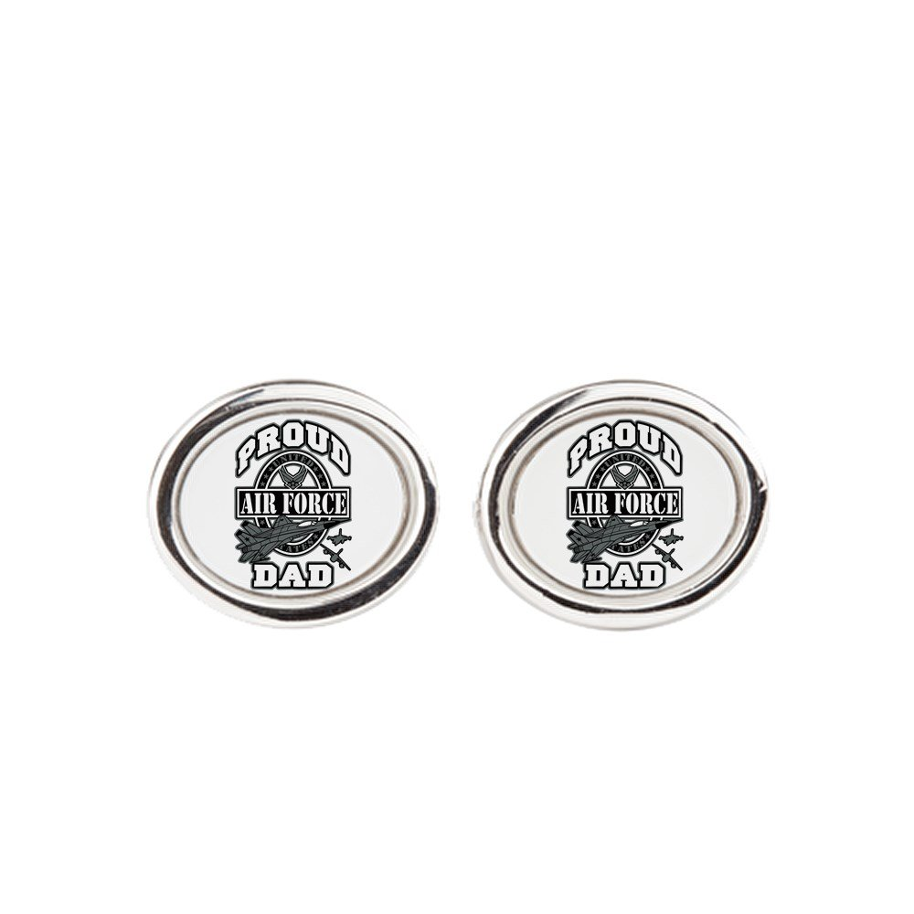 Oval Royal Lion Cufflinks Proud Air Force Dad Jets