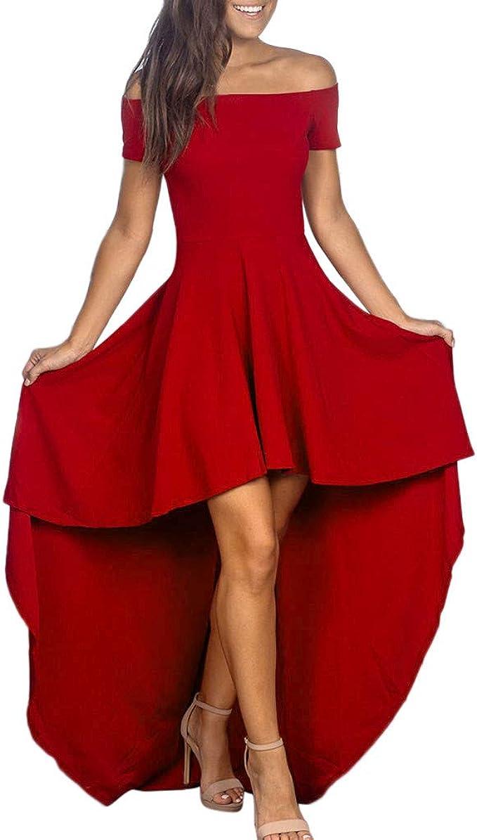 Vintage Vokuhila Kleid Kleider Sommerkleider Langarm Damen Elegant Sexy  Maxi Long Gothic Hochzeit Party Schickes Tailliertes Petticoat A Linien  Swing