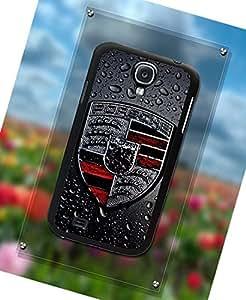 Luxury Series Samsung Galaxy S4 i9500 Funda Case Porsche Brand Logo Ultra Thin HardFunda Case Personalized Black Funda Case For Men