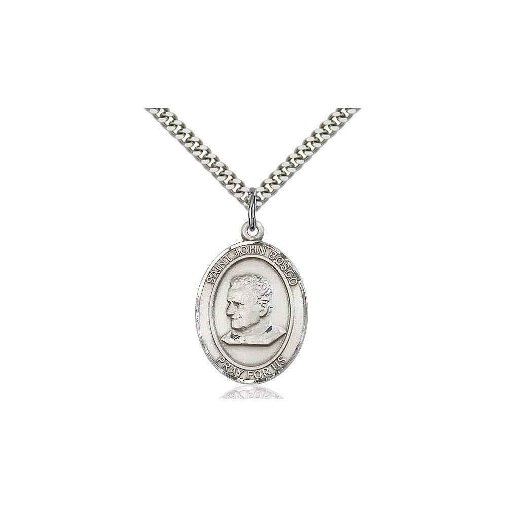 DiamondJewelryNY Sterling Silver St John Bosco Pendant