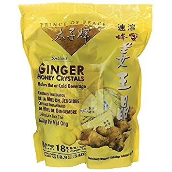 Prince of Peace® Instant Ginger Honey Crystals (30 Sachets) Combo Pack 1 Each of Ginger and Lemon Ginger