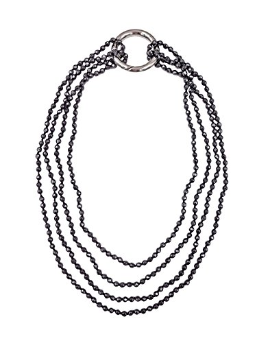 MGR MY GEMS ROCK! BjB 70 Inch 4MM Faceted Cut Hematite Beaded Endless Infinity Long Necklace.