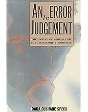 An Error in Judgement