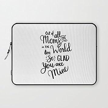 """longdong 15 """"Mom handlettering Cita Carcasa del ordenador bolsa Slim – Funda blanda para"""
