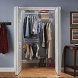 ClosetMaid ShelfTrack Closet Organizer, 4 to 6-Feet