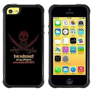 Paccase / Suave TPU GEL Caso Carcasa de Protección Funda para - The Internet Piracy - Apple Iphone 5C