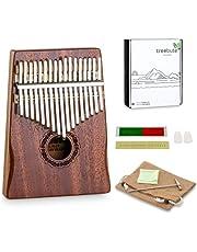 Kalimba Instrument, tumpiano: 17 sångtunga i C-dur inklusive stämmare och lärobok (engl.) | med graverade anteckningar, lämplig för barn och nybörjare | material: Mahogny trä